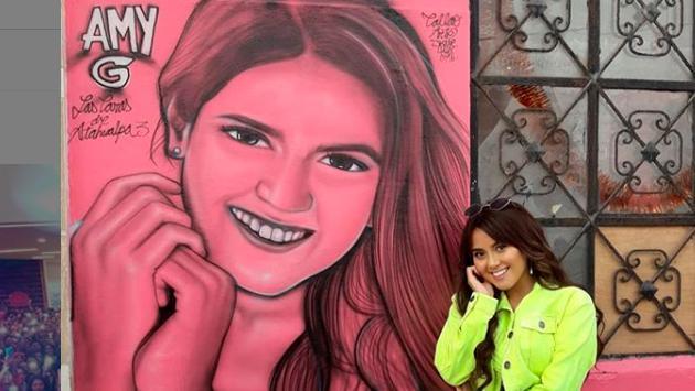 Amy Gutiérrez muestra orgullosa su rostro en 'Las caras de Atahualpa' (Foto: Instagram)