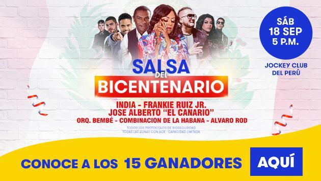 ¡Conoce a los ganadores de las entradas dobles para el concierto 'Salsa del Bicentenario'!