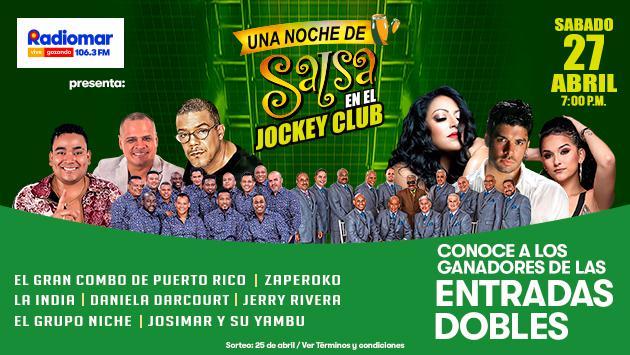 ¡Conoce a los ganadores de las entradas dobles para Una Noche de Salsa en el Jockey!