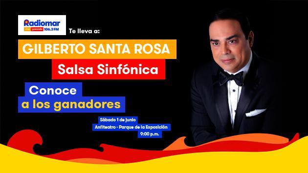 Conoce a los ganadores de las entradas para el concierto de Gilberto Santa Rosa