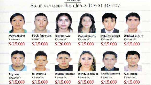 Ellos son los delincuentes más buscados y su recompensa