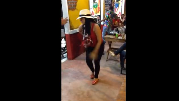 ¡Esta joven baila salsa a su estilo! (VIDEO)