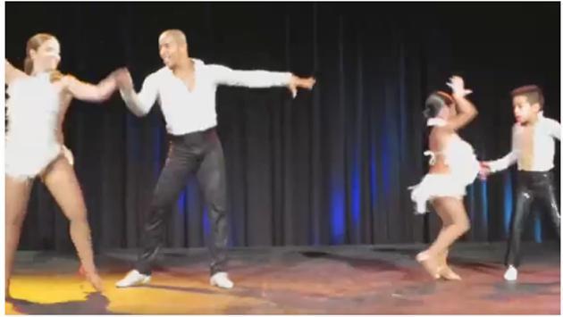 ¡Mira a estos niños bailar salsa al lado de sus profesores! ¡Te sorprenderás! (Foto:  Video Facebook)