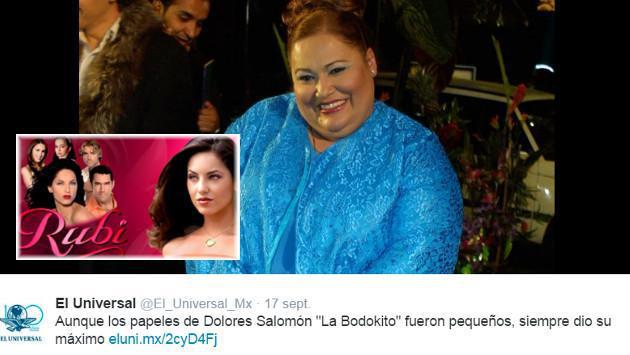 Falleció Dolores Salomón, 'Mariquita de la novela 'Rubí'