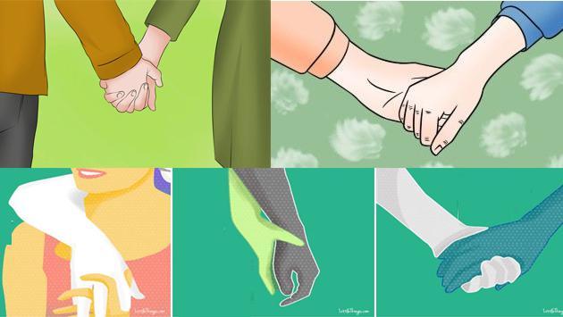 ¿Qué significado tiene la forma de agarrar la mano a tu pareja?
