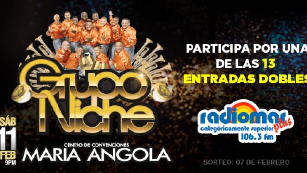 ¡Gana entradas dobles para el concierto del Grupo Niche 'Serenata al Amor'!