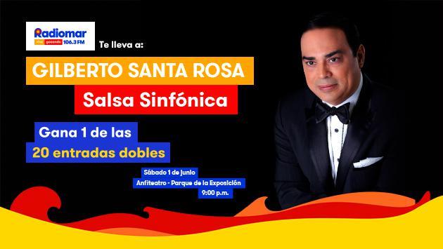 Gana entradas para el 'Concierto Gilberto Santa Rosa – Salsa sinfónica'