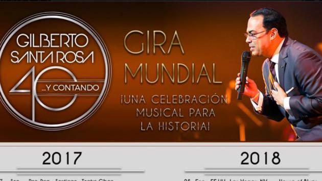 Gilberto Santa Rosa realizará concierto en Lima, como parte de su gira '40 y Contando'