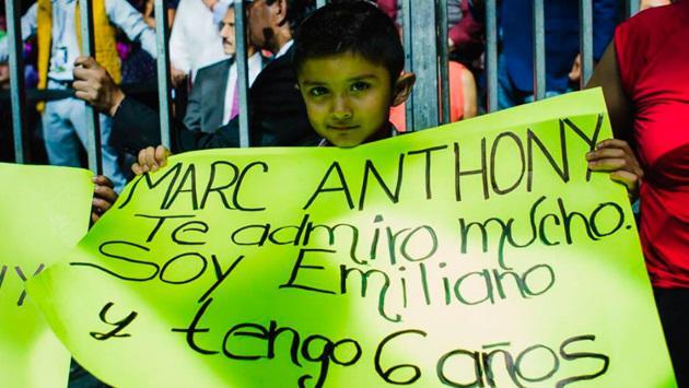 El salsero Marc Anthony compartió foto de un pequeño fan de su música. (Foto: Facebook Marc Anthony)