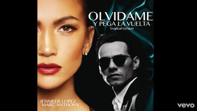 Marc Anthony y Jennifer Lopez lanzaron 'Olvídame y pega la vuelta' en versión salsa