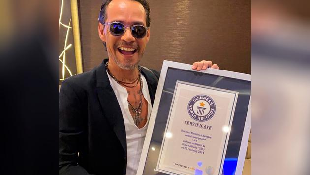 Marc Anthony obtuvo su tercer Récord Guinness