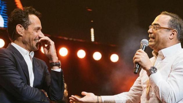 Marc Anthony y Gilberto Santa Rosa cantaron juntos en Puerto Rico