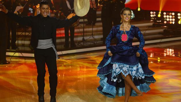 Brunella Horna y David Villanueva en sentencia (Fotos: El Gran Show)
