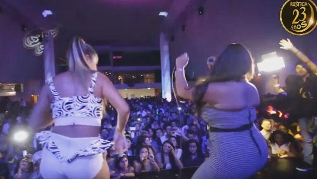 Mirella Paz cantó 'Déjala' con Yahaira Plasencia (Fotos: captura video Catorse y Seis - Rústica)