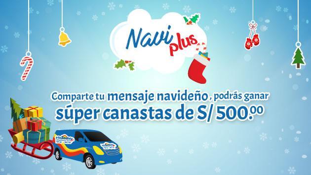¡Comparte tu mensaje navideño y gana con Navi Plus 2016!