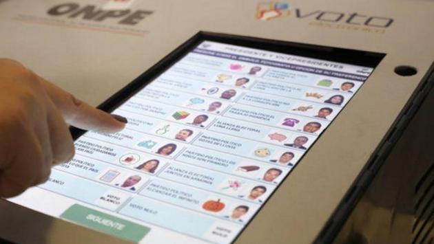 Voto electrónico se aplicará solo en 19 distritos (FOTOS: ONPE)