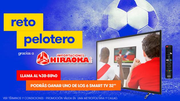 ¡Participa del Reto Pelotero y gana un televisor, gracias a Radiomar e Hiraoka!
