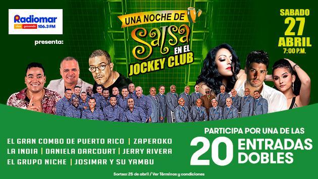 Radiomar regala 20 entradas dobles para Una Noche de Salsa en el Jockey Club