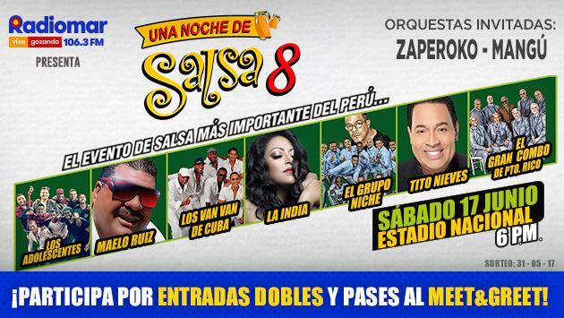 ¡Radiomar te regala pases para el Meet & Greet y entradas dobles para el concierto 'Una Noche de Salsa 8'!