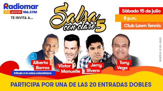 ¡Radiomar te regala entradas para el concierto Salsa con Clase 5!