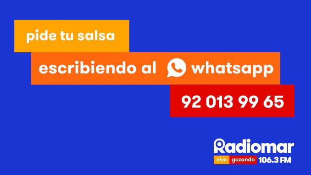 ¡Este es el Whatsapp de Radiomar! Comunícate con nosotros de forma directa
