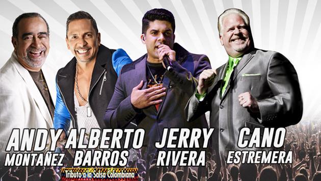 'Salsa con Clase 2' juntará a Jerry Rivera, Andy Montañez, Alberto Barros y Cano Estremera