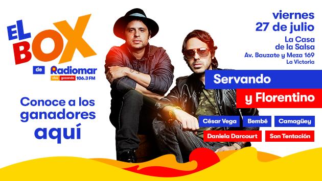 ¡Entérate quién ganó el box para el concierto de Servando y Florentino!