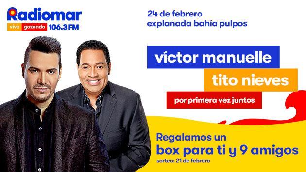 ¡Gana un box para ti y tu gente en 'Sunset Colors Festival' con Víctor Manuelle y Tito Nieves!