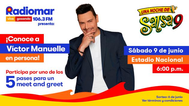¡Gana un pase para el Meet and Greet con Víctor Manuelle en Una Noche de Salsa 9!