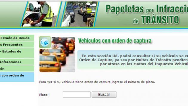 Conoce si el vehículo tiene orden de captura con solo tenerla placa (Fotos: capturas)