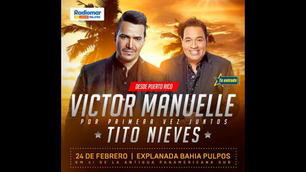 ¡Víctor Manuelle y Tito Nieves estarán juntos en concierto en 'Sunset Colors Festival'!