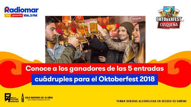 ¡Ya salieron los ganadores de las entradas cuádruples para el Oktoberfest Perú 2018!
