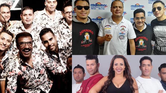 ¡Las agrupaciones salseras Zaperoko, Camaguey y Los Barraza participaron de un 'campeonato deportivo salsero'! (Foto: Facebook/Composición Radiomar)