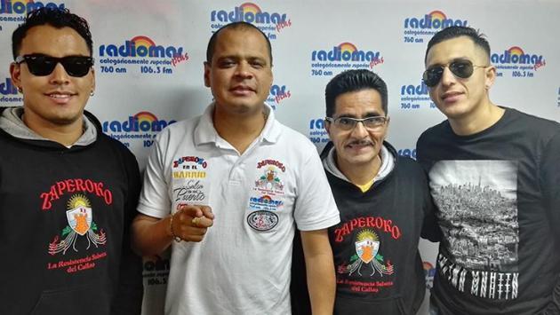 ¡Las agrupaciones salseras Zaperoko, Camaguey y Los Barraza participaron de un 'campeonato deportivo salsero'! (Foto: Radiomar)