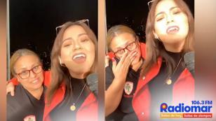 Amy Gutierrez hizo llorar a su mamá en transmisión en vivo