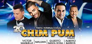 Chim Pum Callao 2016 presentará a Gilberto Santa Rosa, Víctor Manuelle, Alberto Barros y Maluma