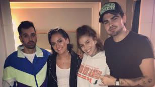Daniela Darcourt se despidió del Festival Heat con fotografía junto a Mike Bahía, Greeicy y Jonathan Moly