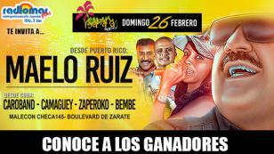ELLOS GANARON ENTRADAS PARA EL CONCIERTO DE MAELO RUIZ EN BANANA - BOULEVARD DE ZÁRATE
