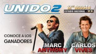 ¡Ellos ganaron entradas para el concierto UNIDO2, gracias a Radiomar, vive gozando!
