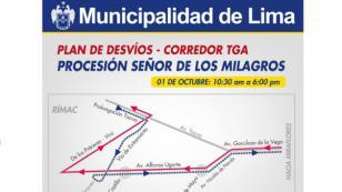 ¡Entérate aquí cuáles serán los desvíos del Corredor Azul y el Metropolitano por procesión!