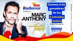 ¡Estos son los ganadores de las 2 entradas dobles para el concierto de Marc Anthony!