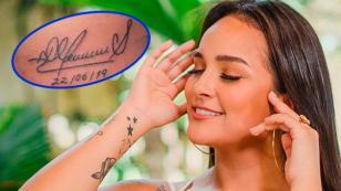 Fanática de Daniela Darcourt se tatúa firma de la salsera y ella reacciona en redes sociales [FOTOS]