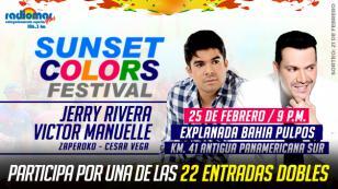 Gana entradas dobles, gracias a Radiomar, para el 'Sunset Color Festival' con Jerry Rivera y Víctor Manuelle