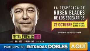 ¡Gana entradas para el Festival 'All Access' con Rubén Blades!
