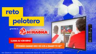 ¡Gana un televisor con el 'Reto Pelotero', gracias a Radiomar e Hiraoka!