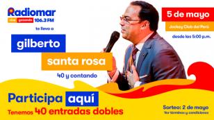 ¡Participa aquí por una de las 40 entradas dobles para el concierto de Gilberto Santa Rosa en Lima en su gira 40 y contando!