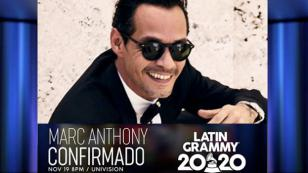 Marc Anthony se presentará en los Latin Grammy 2020