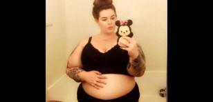 Modelo de 'talla grande' publicó fotos de su embarazo y esto pasó