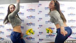 Olinda Castañeda bailó el Caballito de Palo en Radiomar Plus