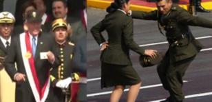 Pareja del ejército bailó 'Valicha' en la Parada Militar